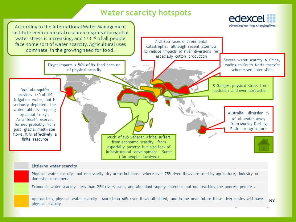 Water scarcity hotspots