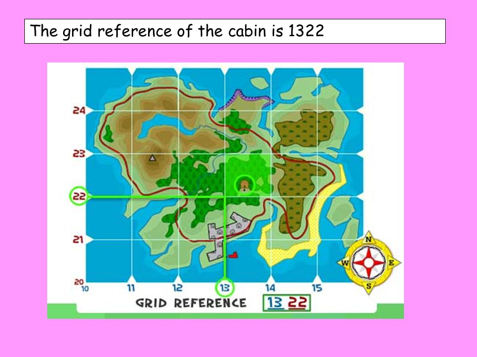 The grid reference of the cabin is 1322