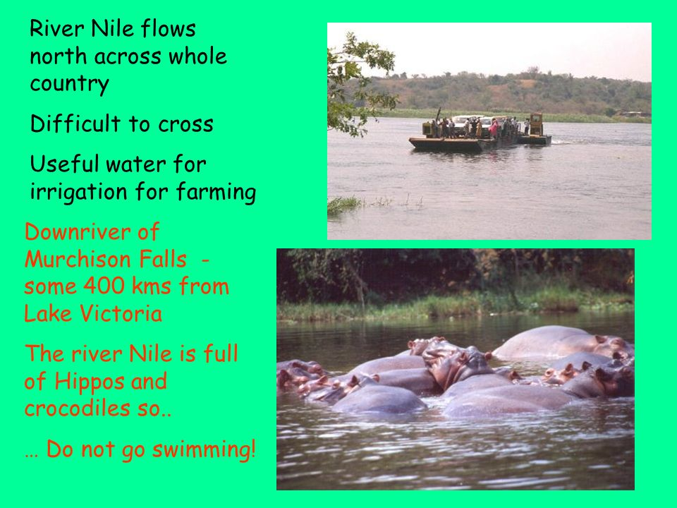 River Nile flows north across whole country
