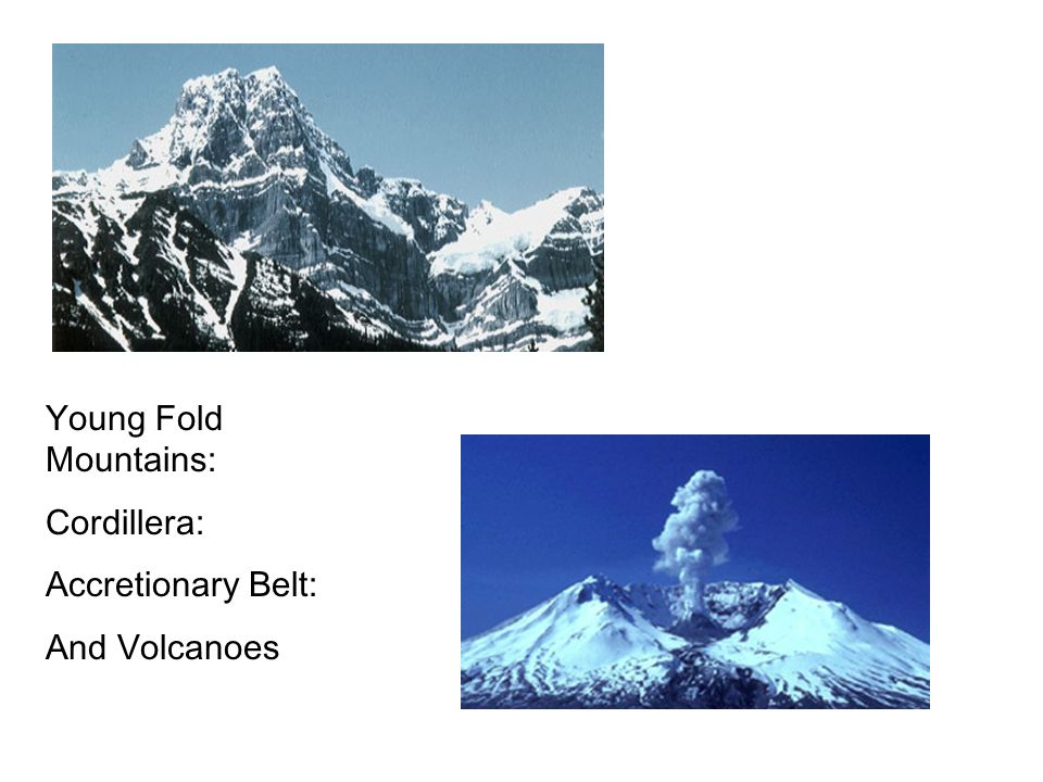 Young Fold Mountains: Cordillera: Accretionary Belt: And Volcanoes