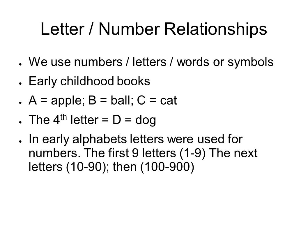 Do numbers have some special meaning ppt video online download 2 letter number relationships biocorpaavc Gallery