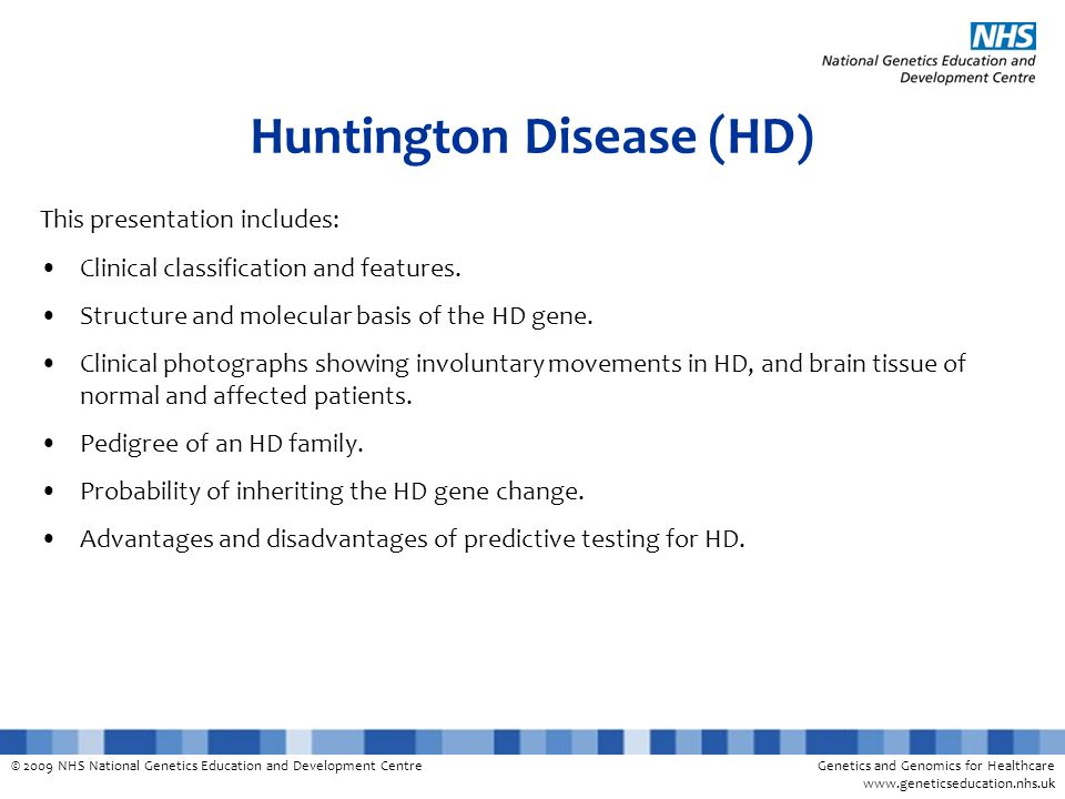 Huntington Disease (HD)