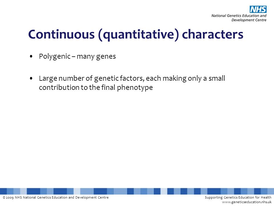Continuous (quantitative) characters