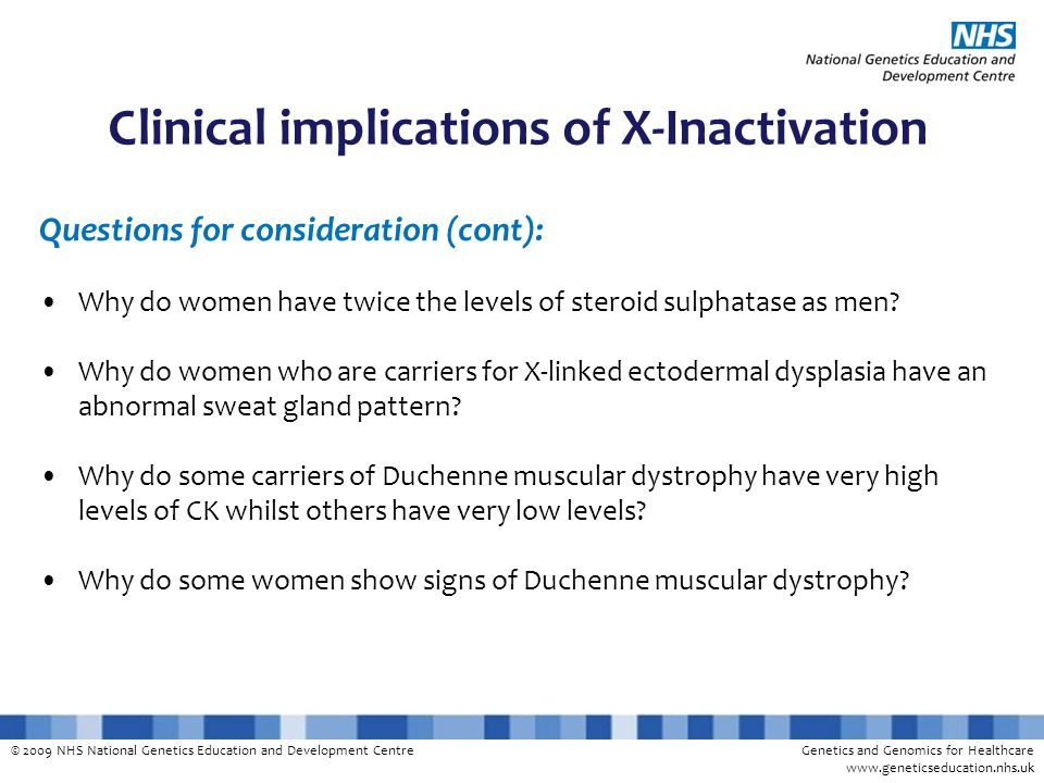 Clinical implications of X-Inactivation