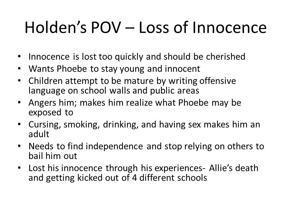Innocence of childhood essay