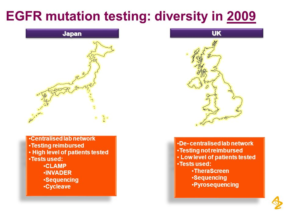 EGFR mutation testing: diversity in 2009