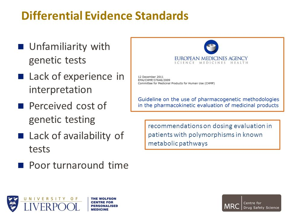 Differential Evidence Standards