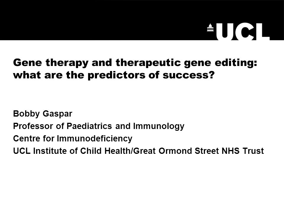 Gene therapy and therapeutic gene editing: what are the predictors of success