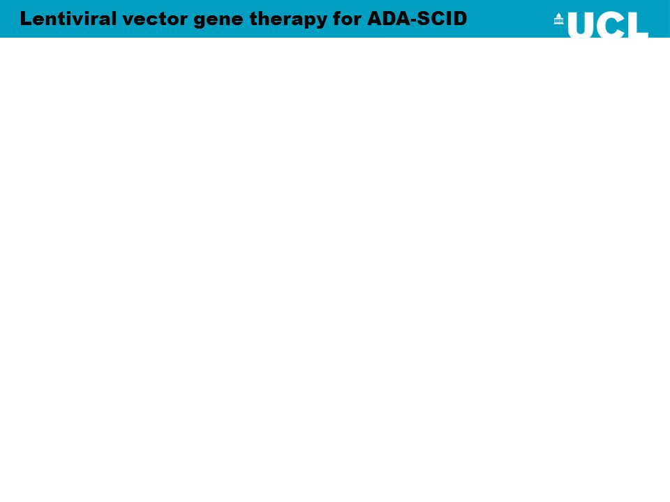 Lentiviral vector gene therapy for ADA-SCID