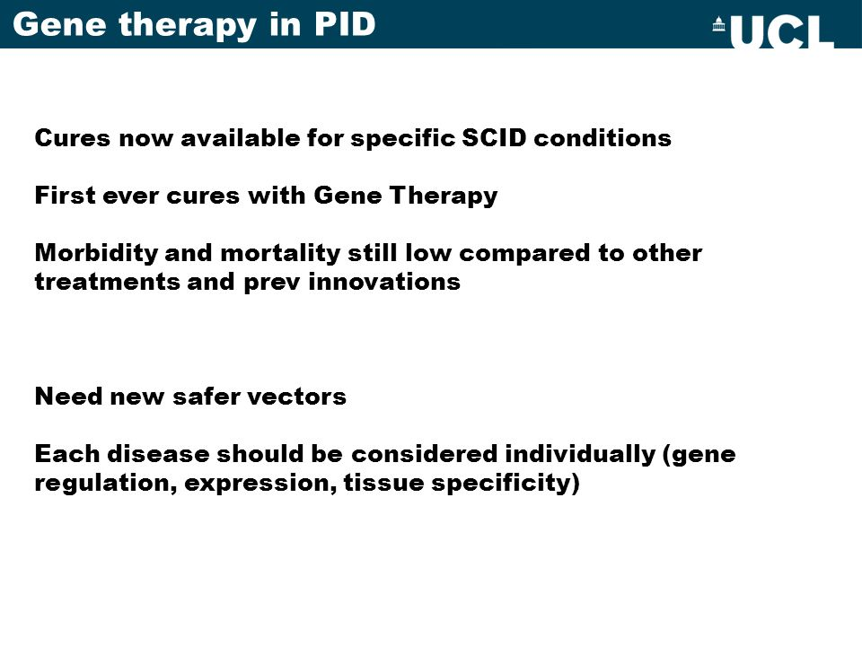 Gene therapy in PID Cures now available for specific SCID conditions
