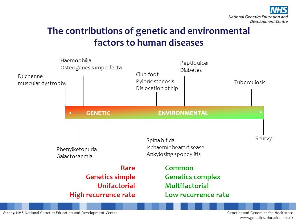The contributions of genetic and environmental
