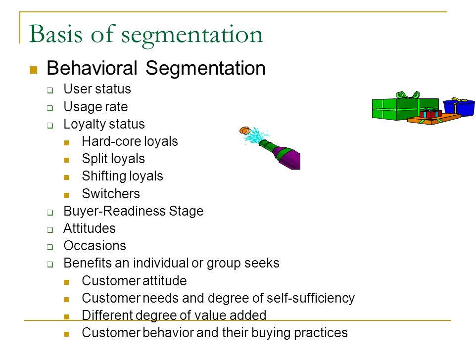 behavioural segmentation nike An analysis of market segmentation of the coca-cola company market segmentation of coca-cola introduction as everyone knows, the coca-cola company (see appendix a) is a well-known big drinks manufacturer with over one hundred year.