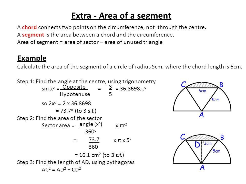 Circles a reminder ppt video online download extra area of a segment ccuart Gallery