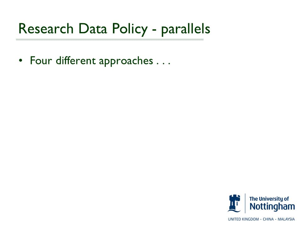 Research Data Policy - parallels