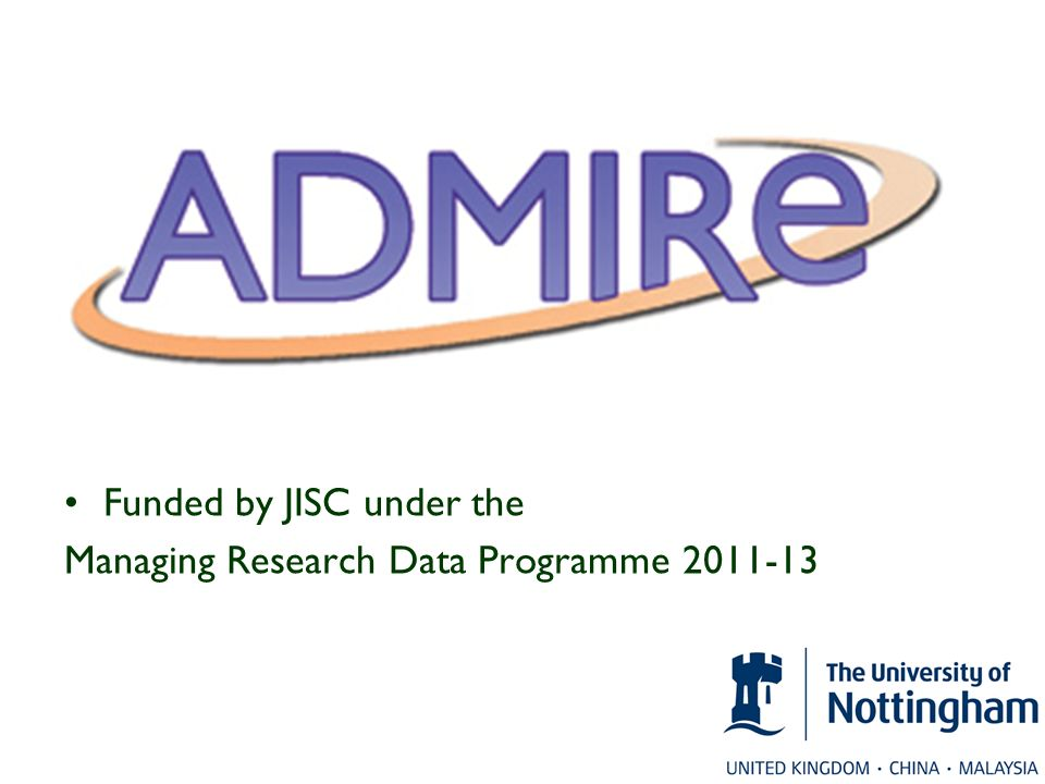 Funded by JISC under the