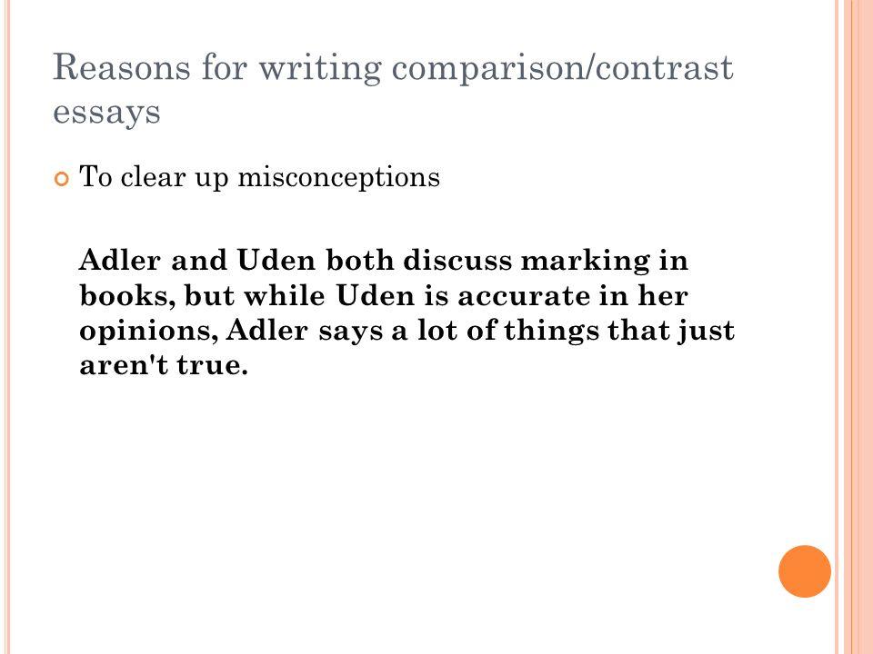 paper the comparison contrast essay ppt video online reasons for writing comparison contrast essays