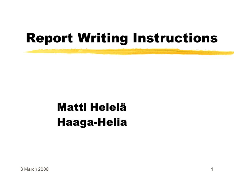 Report Writing Instructions Ppt Video Online Download