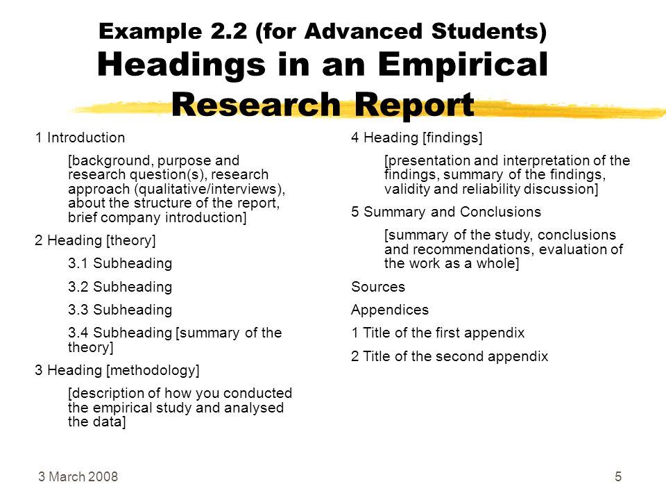 how to write an introduction for a report examples