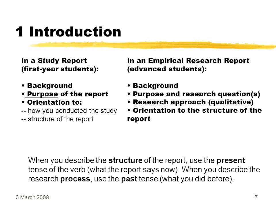 introduction of report writing How to write better reports, easier, so that they will be read and have some effect introduction to the training module on report writing.