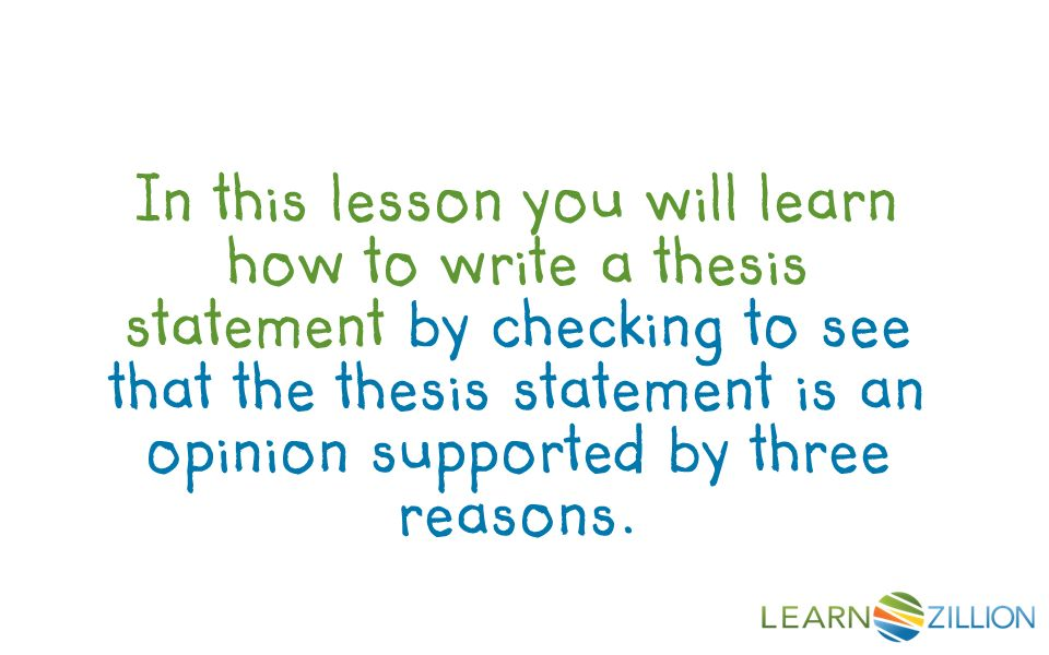 understanding thesis The basics of writing a thesis statement or introduction sentence check out the easybibcom tutorial for works cited page help  .