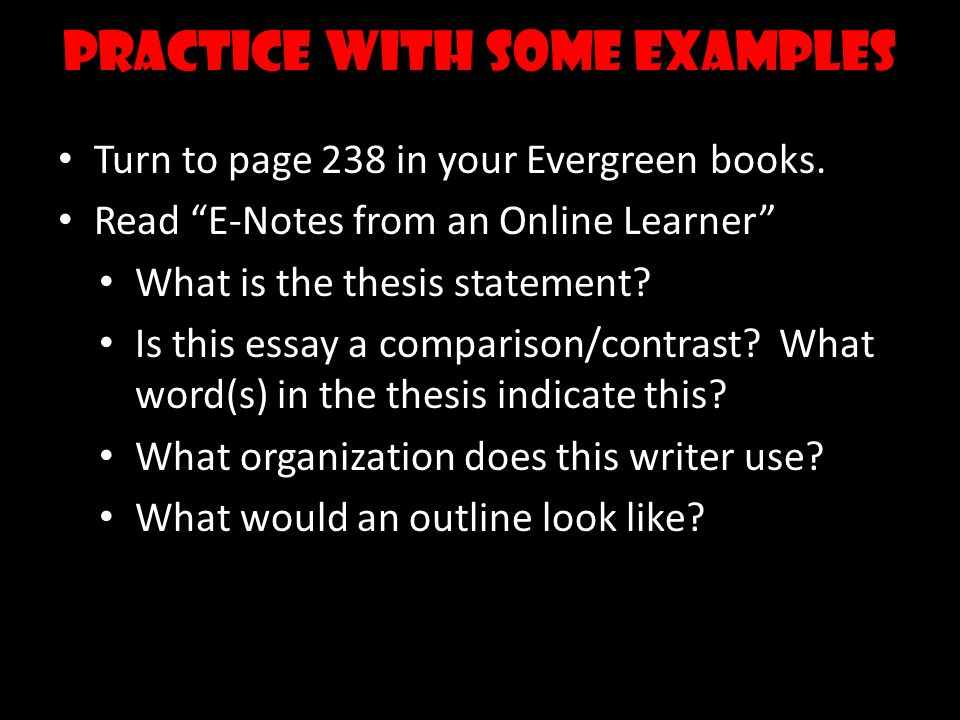 Comparecontrast Essay  Ppt Video Online Download  Practice With Some Examples