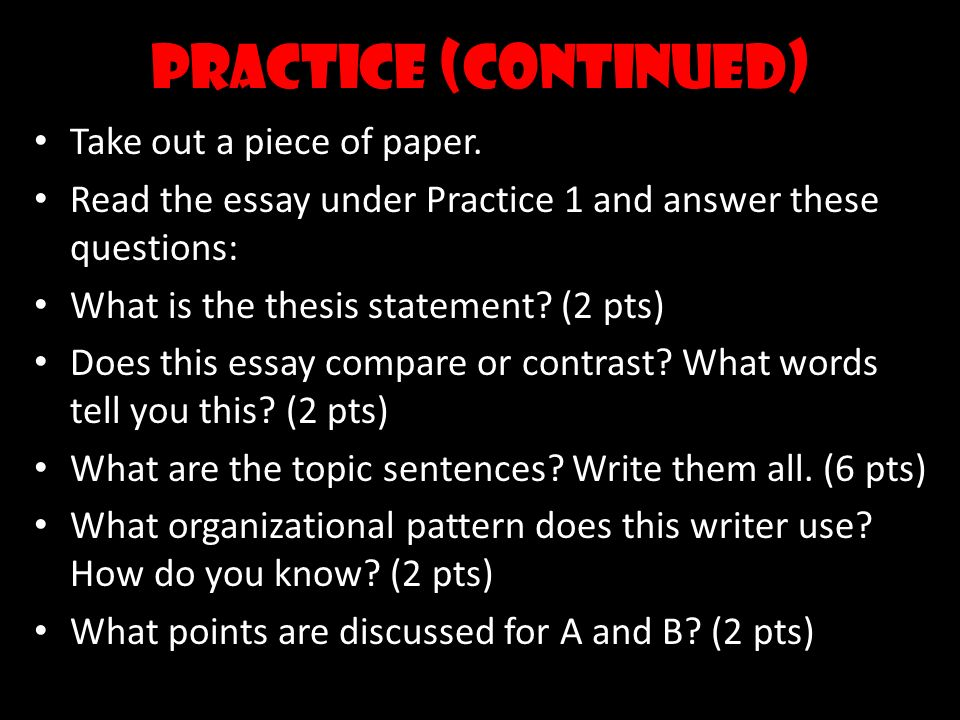 compare contrast essay ppt video online  6 practice