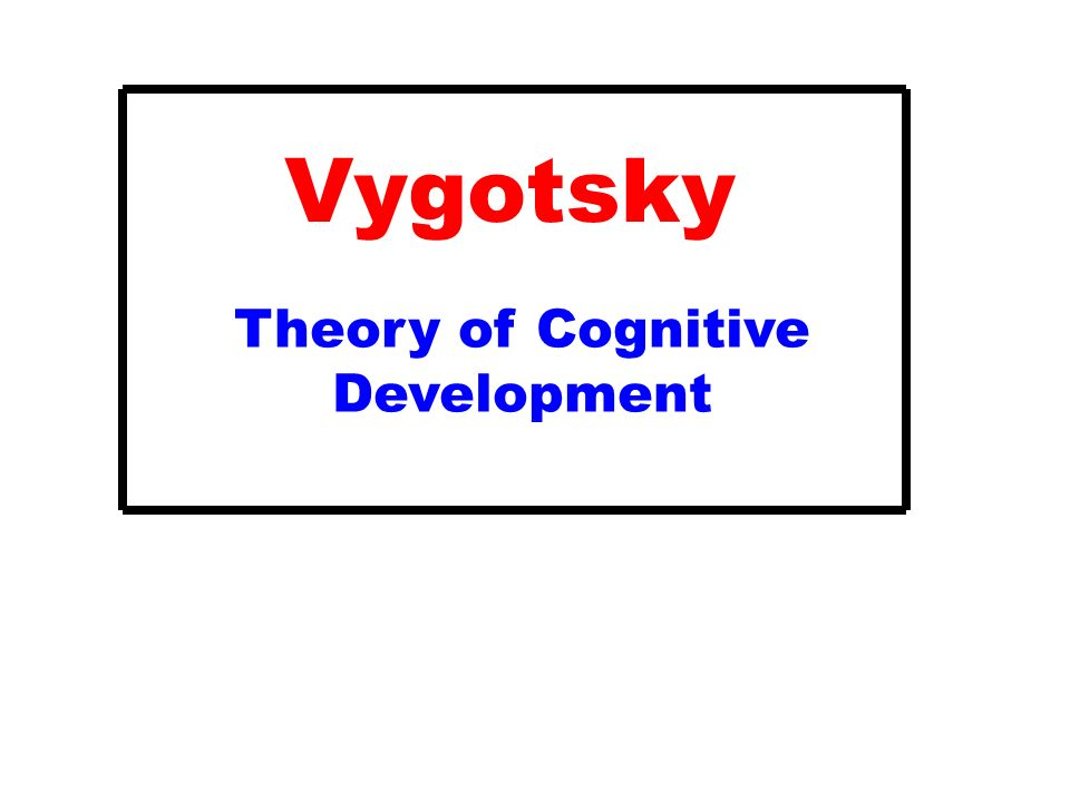 vygotsky's cognitive development theory What is sociocultural theory share pin email search the site go vygotsky suggested that cognitive development can differ between different cultures.