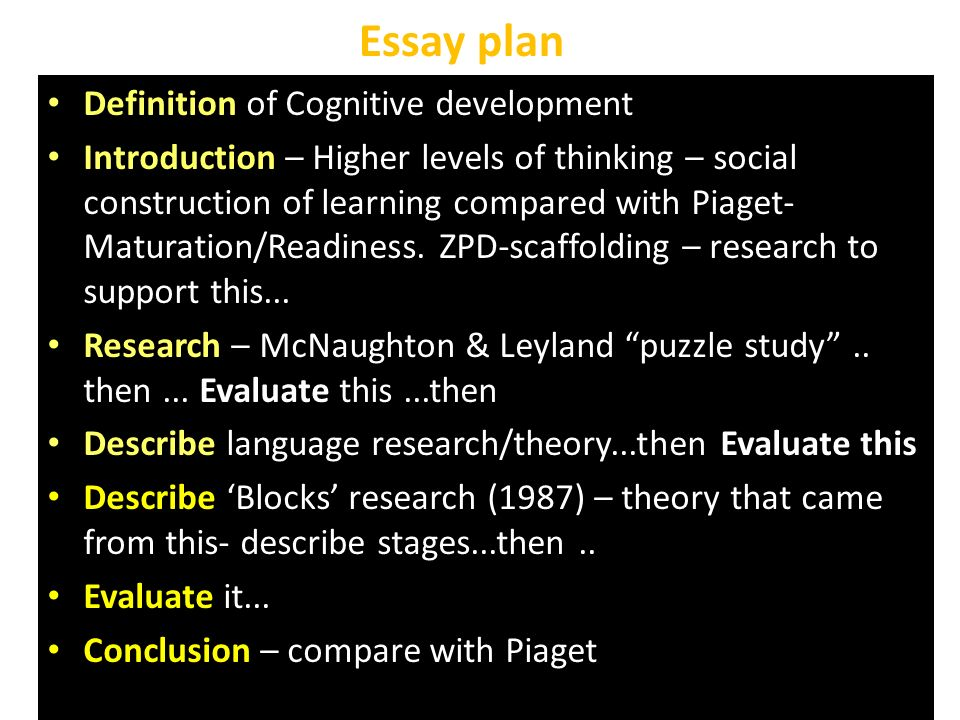 cognative development essay Theories of cognitive development essayspart i: introduce piaget and vygotsky jean piaget (1896-1980): piaget was the first psychologist who made a.