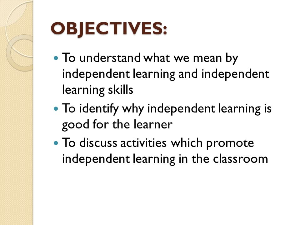 Also referred to as: Self-directed learning Autonomous ...