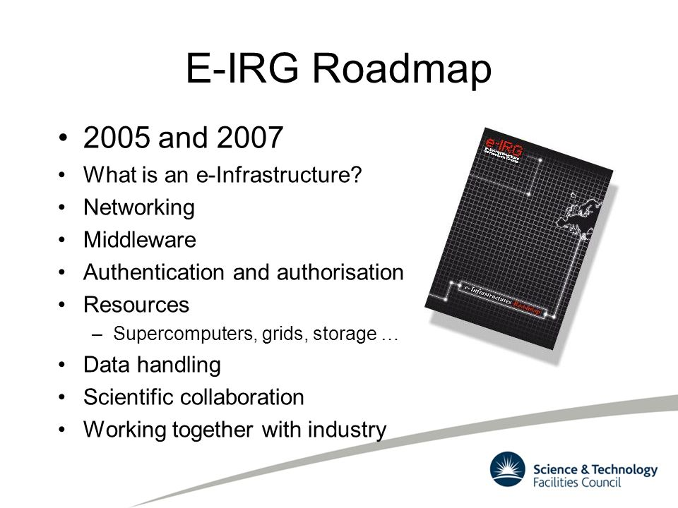 E-IRG Roadmap 2005 and 2007 What is an e-Infrastructure Networking