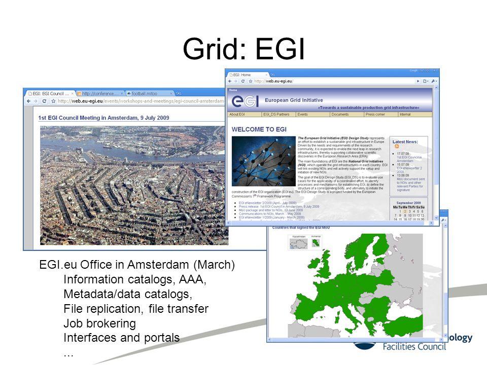 Grid: EGI EGI.eu Office in Amsterdam (March)