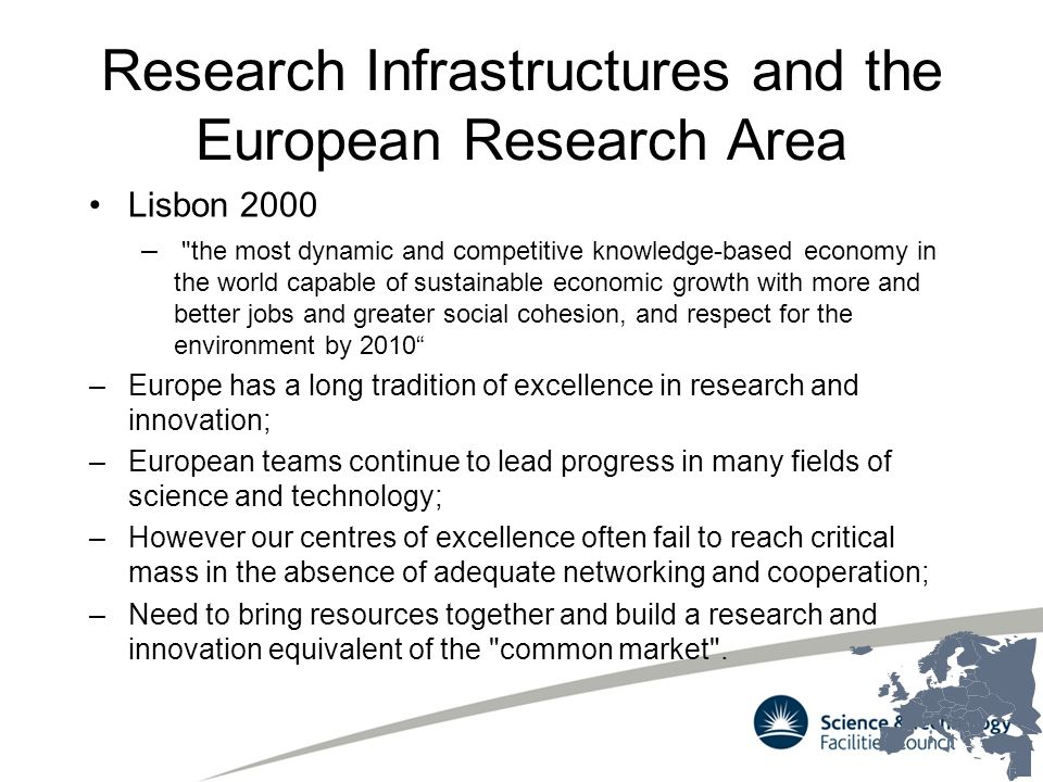 Research Infrastructures and the European Research Area