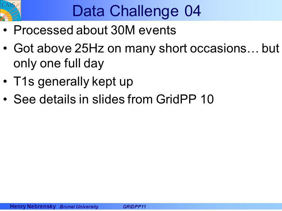 Data Challenge 04 Processed about 30M events