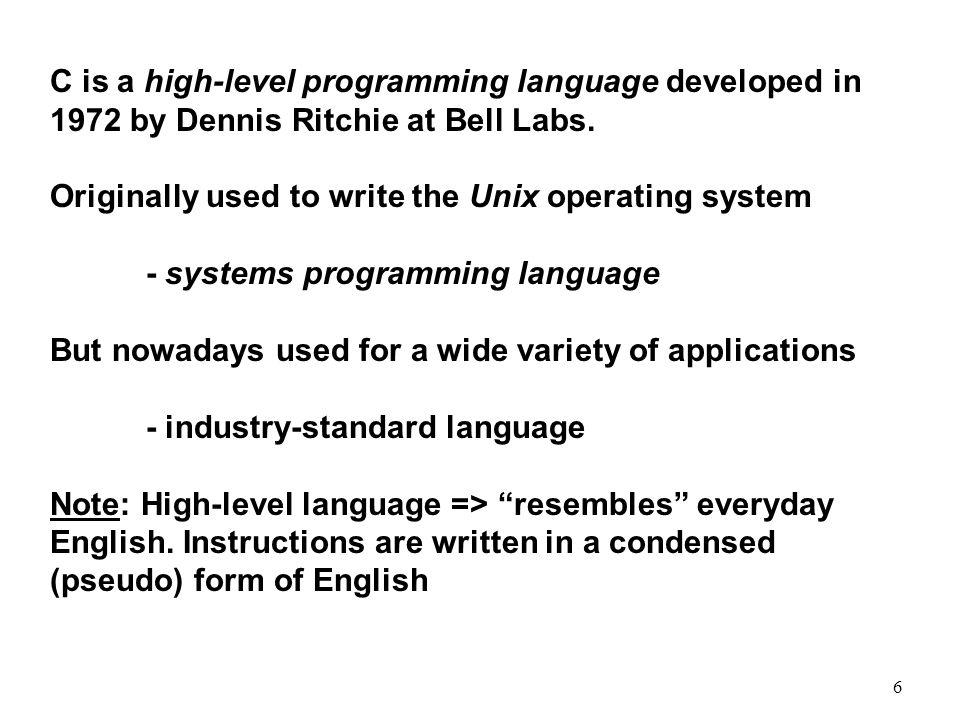 the c programming language by dennis ritchie pdf