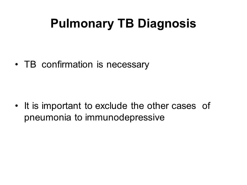 Pulmonary TB Diagnosis