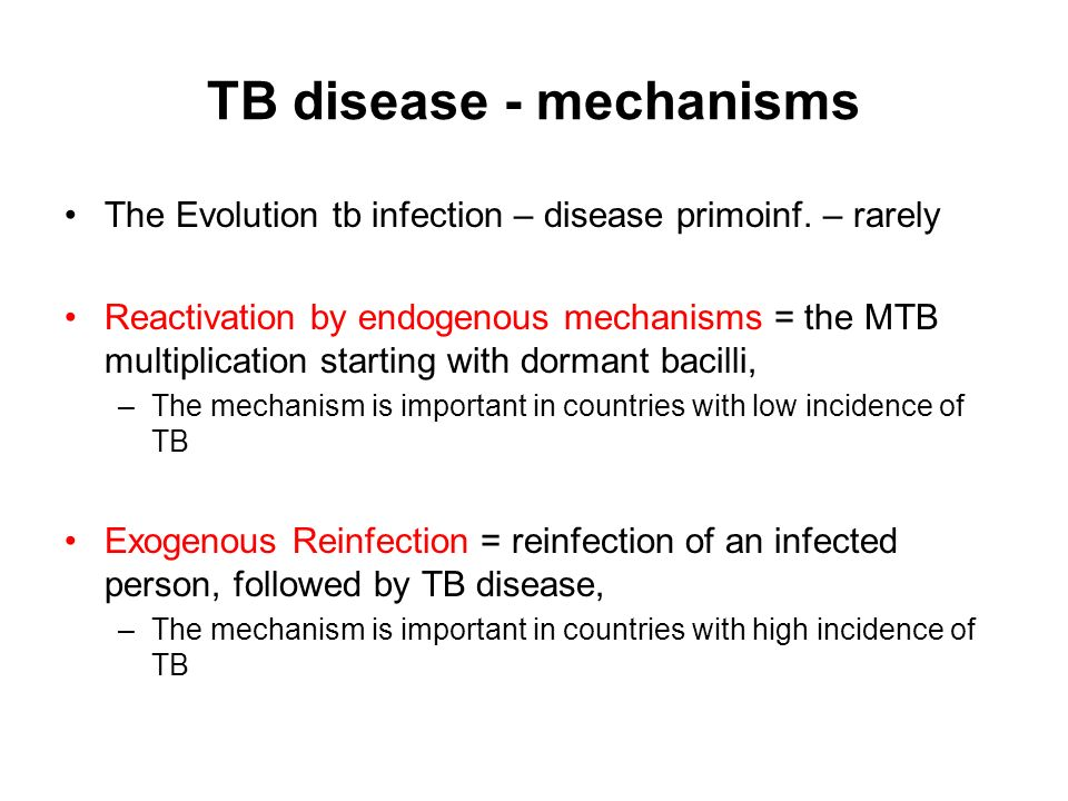 TB disease - mechanisms