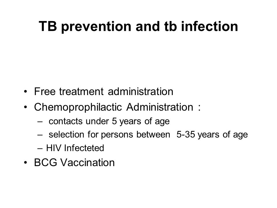 TB prevention and tb infection