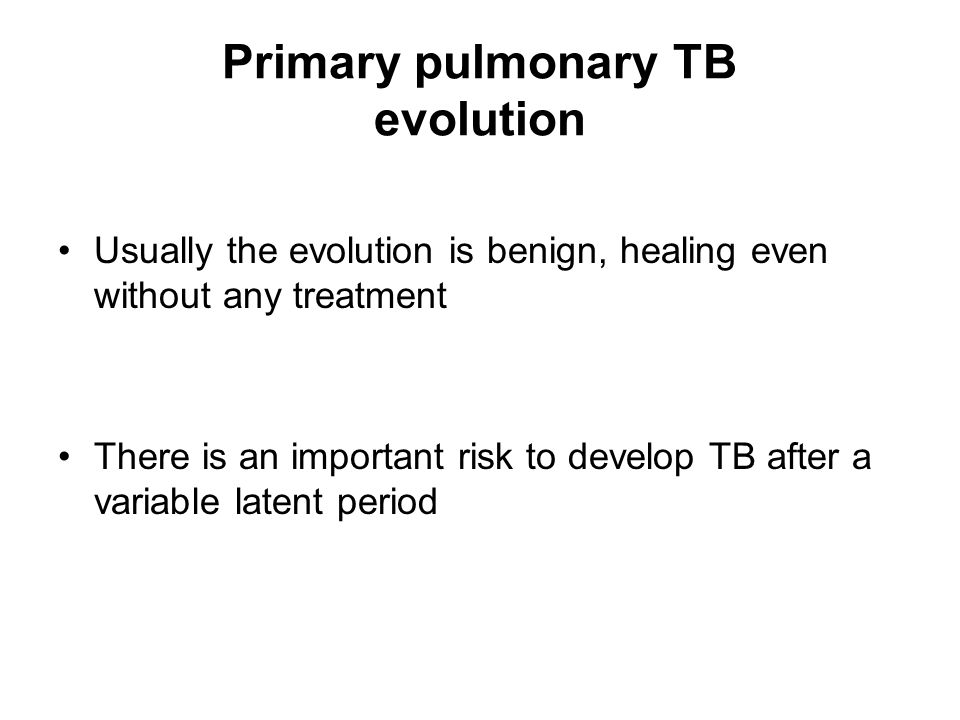 Primary pulmonary TB evolution