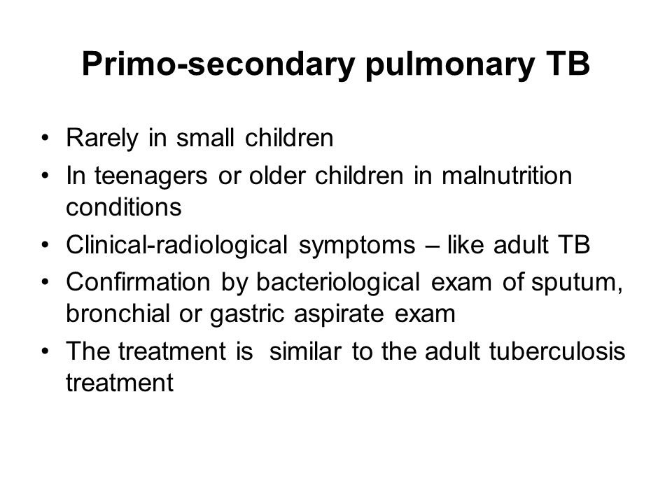 Primo-secondary pulmonary TB