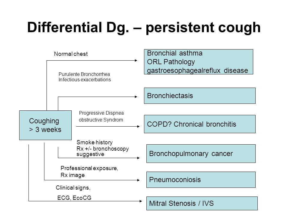 Differential Dg. – persistent cough