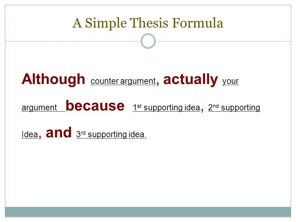although actually thesis statement The process also works for creating a thesis statement for your own in-class essay step 1:  (the although clause in step 4) is actually more.