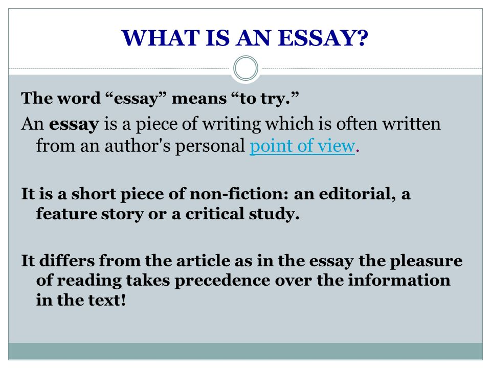 essay structure by kristina yegoryan ppt video online  what is an essay the word essay means to try an essay is a piece