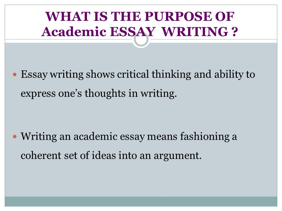 "purpose of essay structure Luc writing center - ""the essay: purpose and structure"" 1 what is the purpose of an essay every good essay is an argument incorporating proof, evidence, the opinions of critics."