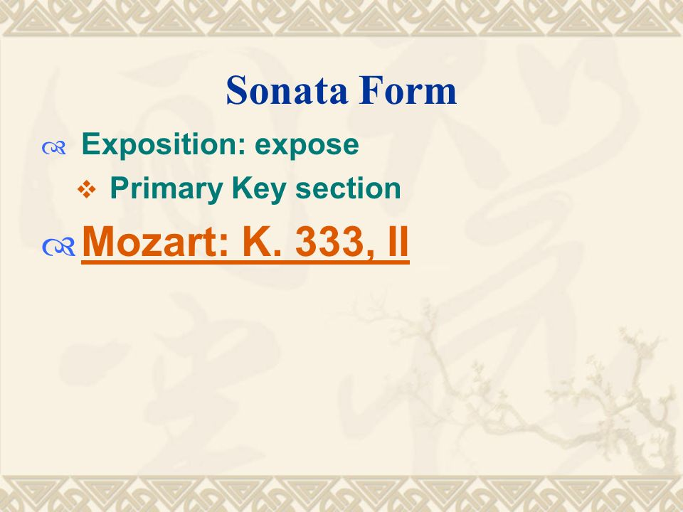 analysis of mozarts k 515 mvt Johann sebastian bach's magnificat is a musical setting of the biblical canticle magnificat (mvt 3, 4) → two movements mozarts requiem is also written.