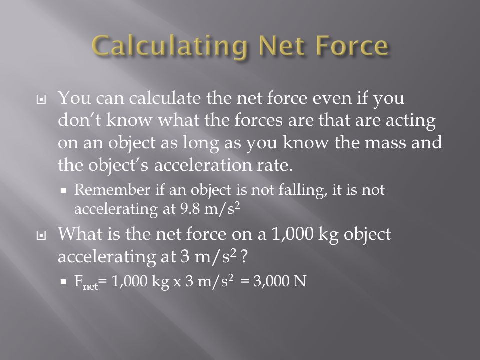Calculating Net Force
