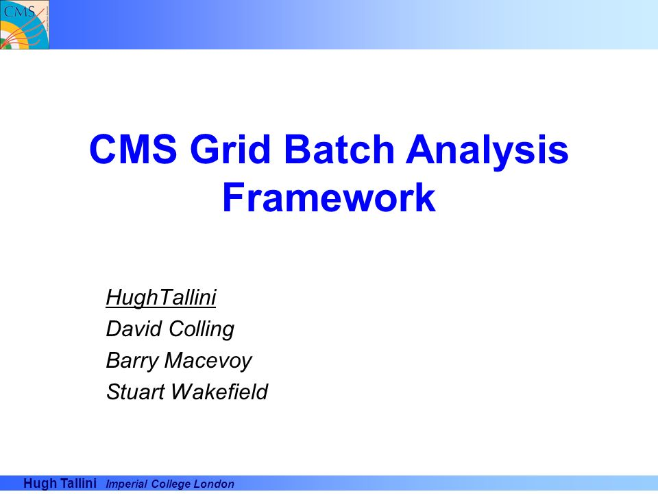 CMS Grid Batch Analysis Framework