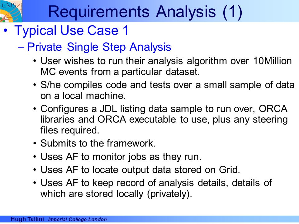 Requirements Analysis (1)