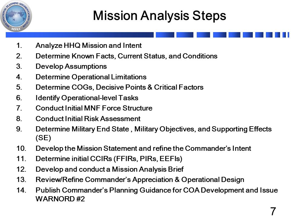 an analysis of the mission statement