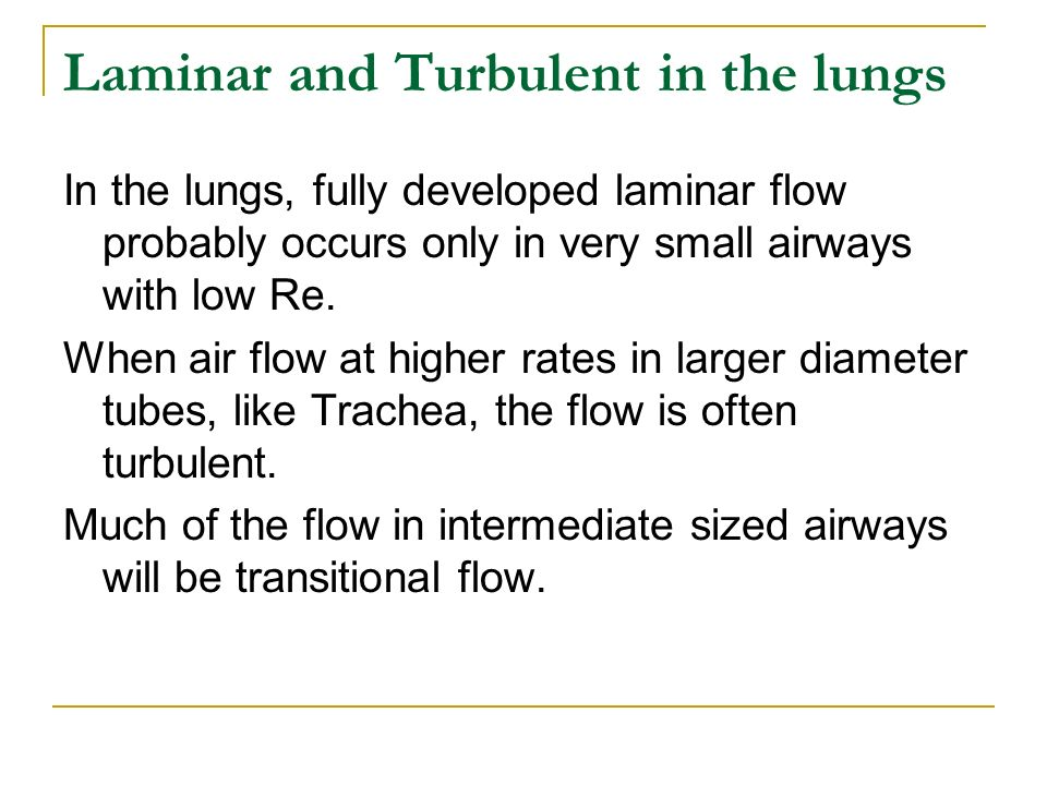 how to know if flow is laminar or turbulent