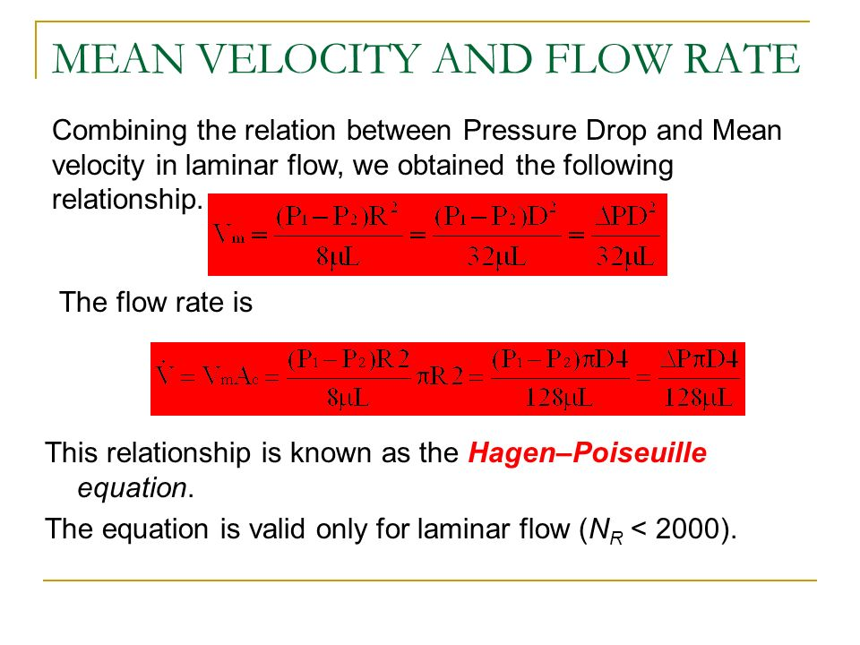 flow rate and pressure drop relationship advice